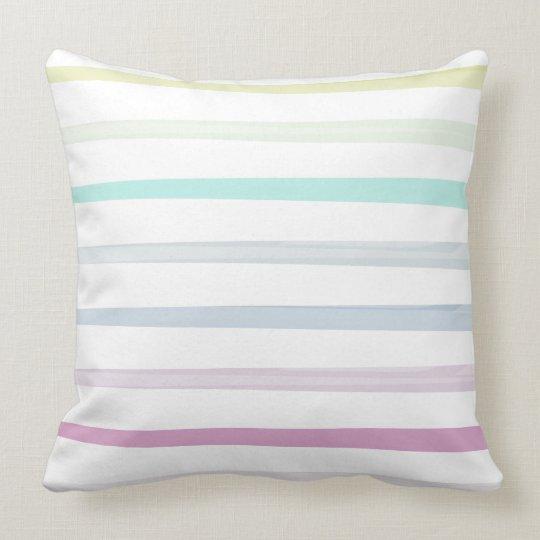 Stripes stripes colors throw pillow
