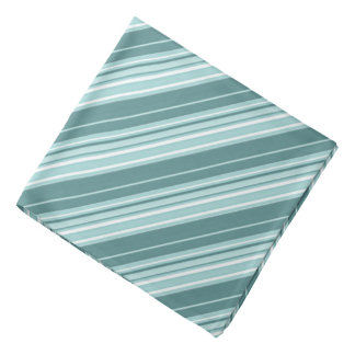 Stripes - Teal Green Blue Bandana