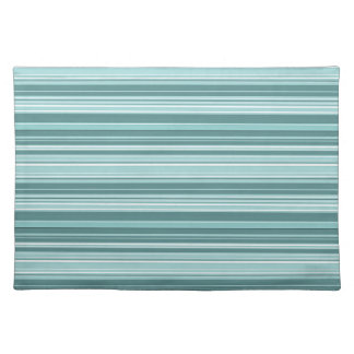 Stripes - Teal Green Blue Placemat