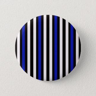 Stripes Vertical Blue Black White 2 Inch Round Button