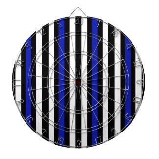 Stripes Vertical Blue Black White Dartboard
