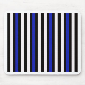 Stripes Vertical Blue Black White Mouse Pad