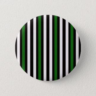 Stripes Vertical Green Black White 2 Inch Round Button