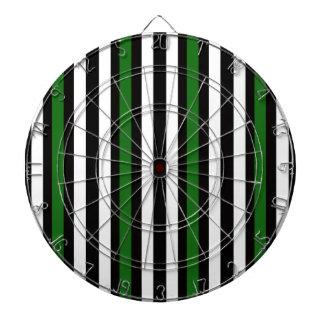 Stripes Vertical Green Black White Dartboard