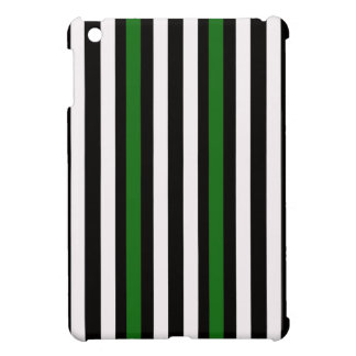 Stripes Vertical Green Black White iPad Mini Cases
