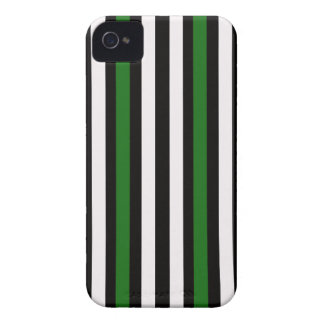 Stripes Vertical Green Black White iPhone 4 Cover