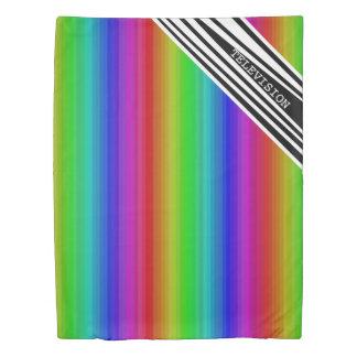 Stripes Vertical Hold Rainbow TV Color Bars Art Duvet Cover