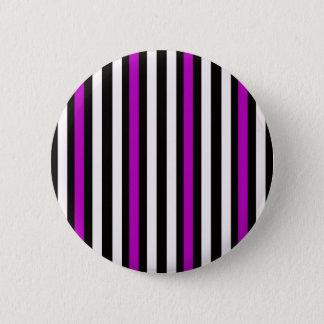 Stripes Vertical Purple Black White 2 Inch Round Button