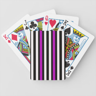 Stripes Vertical Purple Black White Bicycle Playing Cards