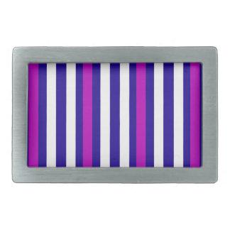 Stripes Vertical Purple Blue White Belt Buckle