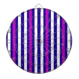 Stripes Vertical Purple Blue White Dartboard