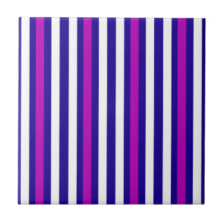 Stripes Vertical Purple Blue White Tile