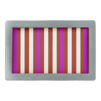 Stripes Vertical Purple Red White Belt Buckle