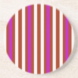Stripes Vertical Purple Red White Coaster