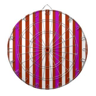 Stripes Vertical Purple Red White Dartboard