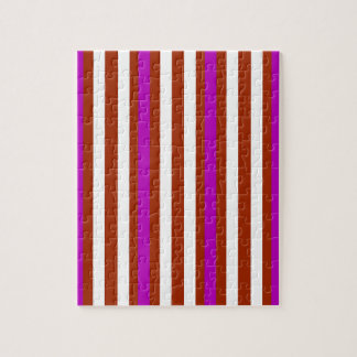 Stripes Vertical Purple Red White Jigsaw Puzzle