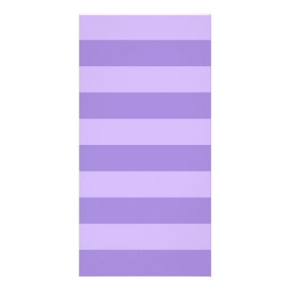 Stripes - Violet and Light Violet Photo Greeting Card
