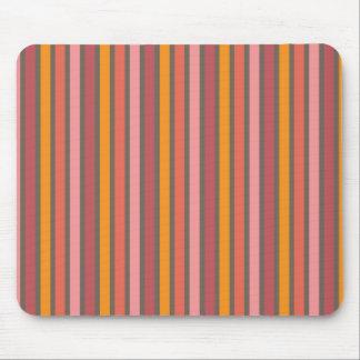 Stripes Warm Tone Mouse Pad