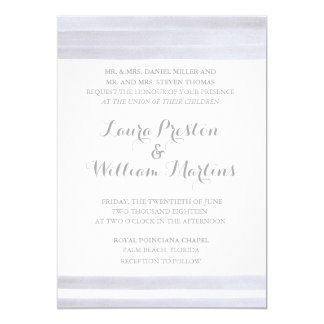 Stripes Watercolor Wedding Invitation