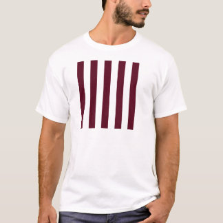 Stripes - White and Dark Scarlet T-Shirt