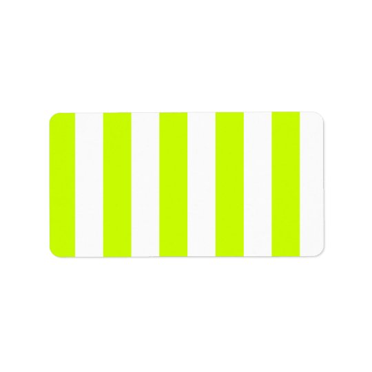 Stripes - White and Fluorescent Yellow