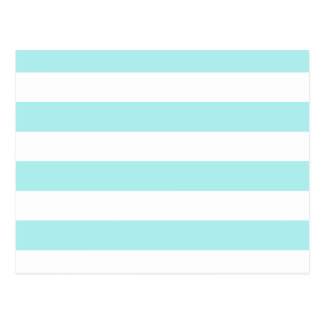 Stripes - White and Pale Blue Postcard