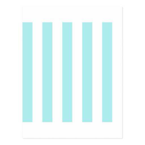Stripes - White and Pale Blue Post Card