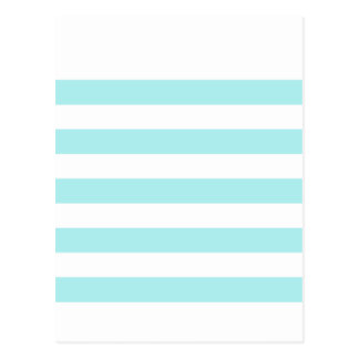 Stripes - White and Pale Blue Post Cards
