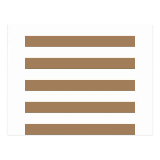 Stripes - White and Pale Brown Postcard