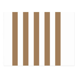 Stripes - White and Pale Brown Post Cards