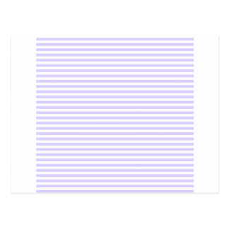 Stripes - White and Pale Lavender Post Cards