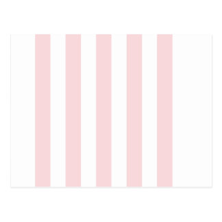 Stripes - White and Pale Pink Post Card