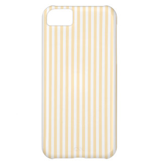 Stripes - White and Peach iPhone 5C Cover