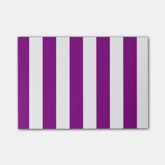 Stripes - White and Purple Post-it Notes