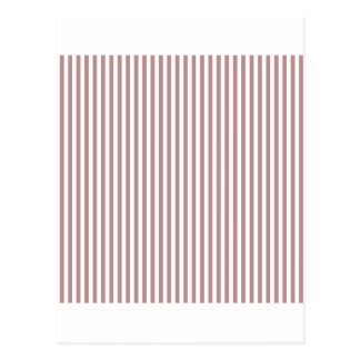 Stripes - White and Rosy Brown Postcards