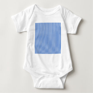 Stripes - White and Sapphire Baby Bodysuit