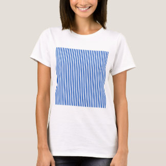 Stripes - White and Sapphire T-Shirt