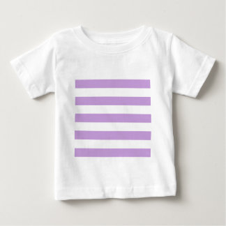 Stripes - White and Wisteria Baby T-Shirt