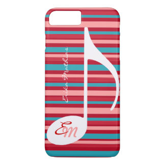 stripes with musical note iPhone 7 plus case