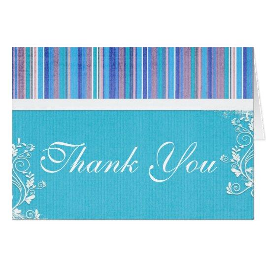 stripesblue, Thank You Card