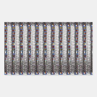 StripesTemplate argenté ajoutent la PHOTO d'image Sticker Rectangulaire