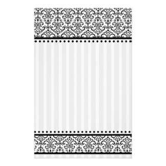 Stripey and lacey stationery