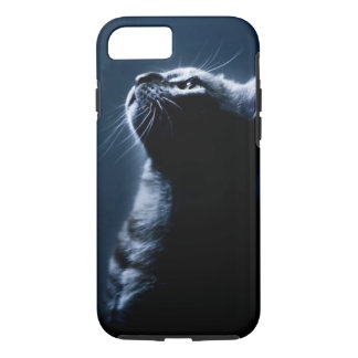 Stripped Cat in the Moonlight iPhone 8/7 Case