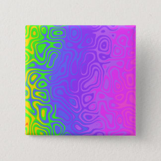 Stripped colorful art 2 inch square button