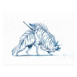Stripped Hyena Postcard