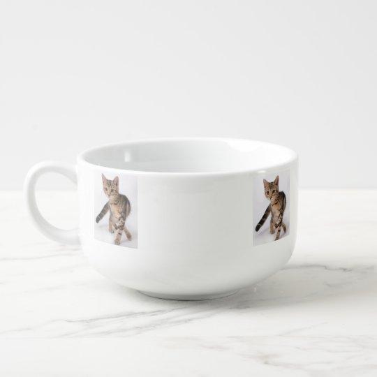 Stripped Kitten Soup Mug
