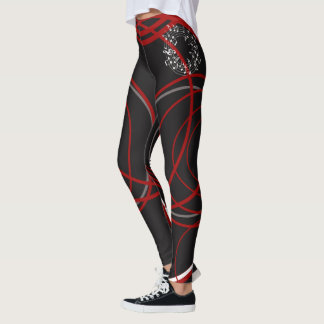 stripped leggings with music notes