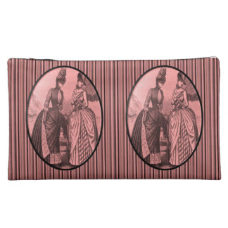 stripped vintage girls cosmetic bag