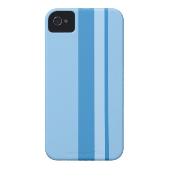 Strips - blue. Case-Mate iPhone 4 cases