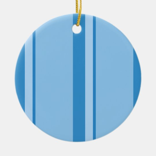 Strips - blue. ceramic ornament